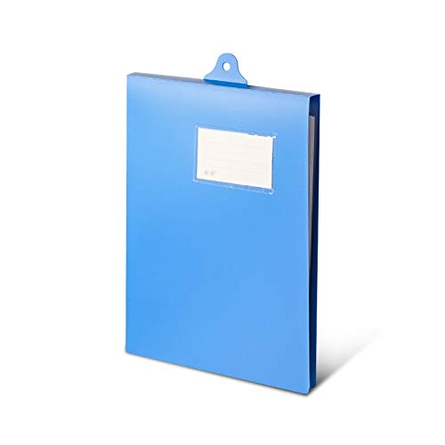 Carpetas para archivo Carpeta de registro colgante con etiquetas y pegatinas A4 Tablero de carpetas de portapapeles de datos para una administración de clasificación fácil (azul) Carpetas Anillas