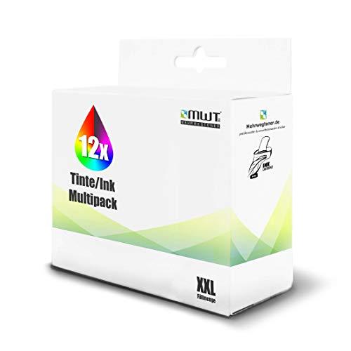 12x MWT Tintenpatronen für Epson Expression Photo XP 55 750 760 850 860 950 960 wie T2431-36 T2438 24XL