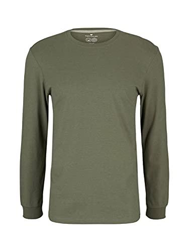 Tom Tailor 1027427 Camiseta, Melange 11668-Juego de Mesa (Madera), L para Hombre