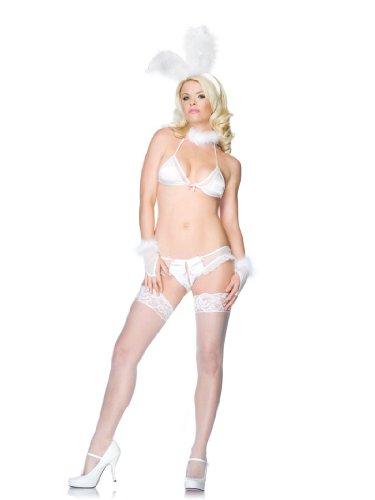 Leg Avenue Roleplay Bedroom Bunny Model 87024 Weiß S/M, 1er Pack (1 x 1 Stück)