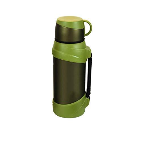 Bouilloire portative de bouilloire de voyage de voiture de ménage de ménage extérieur de pot d'isolation d'acier inoxydable Lostgaming (Couleur : Green)