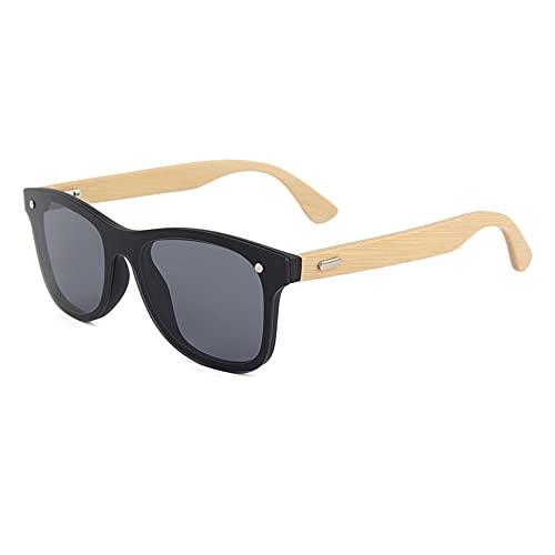 Gafas de sol de madera de bambú, unisex, polarizadas, estilo vintage, UV400, 317-1