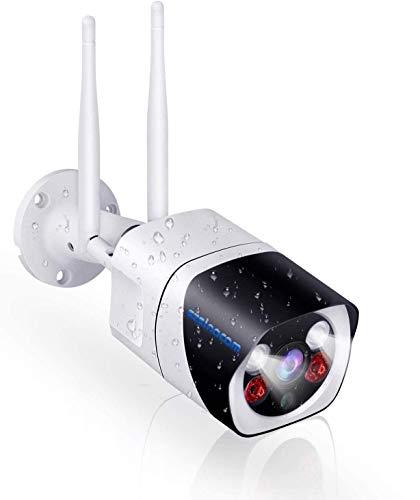 SZSINOCAM Telecamera Esterno Wi-fi 1080P, Videocamera Sorveglianza Senza Fili da Esterno Wifi,Videosorveglianza Wifi Esterno con Visione Notturna,Rilevazione Del Movimento,Audio Bidirezionale