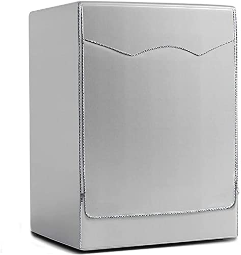 Funda de Lavadora Cubierta Impermeable para Lavadora Secadora de Carga Frontal para Lavadora o Secadora 60 * 65 * 85cm, Silver Edge Zip
