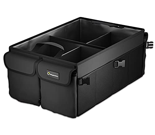 Collapsible Car Trunk Organizer – Large Foldable Sedan, Truck Cab and SUV...