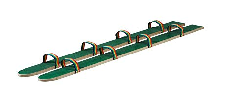 pedalo® Sommerski Fußschlaufe I 2 - 4 Spieler I Koordination I Rasenski I Wiesenski I Kindergarten I Teamspiel (160 cm - 4 Spieler)