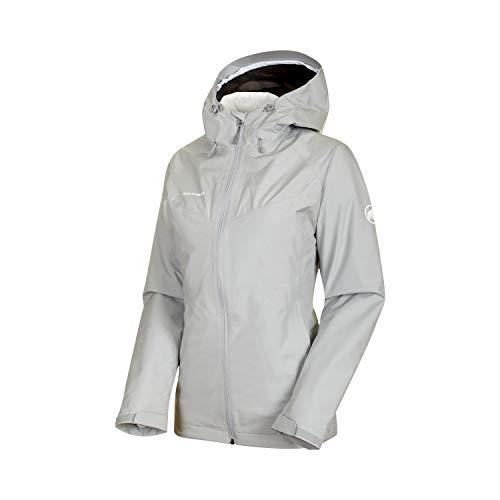 Mammut Damen Convey Hooded 3in1 Hardshelljacke mit Kapuze, highway-bright white, M