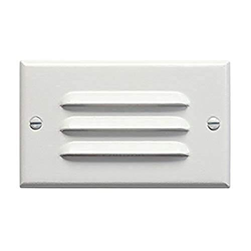 Kichler 12600WH Step and Hall 120V LED Step Light Horizontal Louver, White