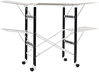 Deluxe X Large 174cm Heavy Load Sturdy Foldable Clothes Airer Laundry Drying Rack Stainless Steel White Frame