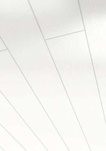 Parador Wand und Decke Home - Dekor Esche perlweiß - Dekorpaneele in Holz-Optik, feuchtraumgeeignet, einfache Klick-Montage - 1242 x 141 x 10 mm