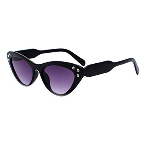 IOSHAPO Dames Zonnebrillen UV-bescherming Klassiek Plastic Montuur Oversized Zonnebril Puntboor klein Montuur Zonnebril Gradiëntbril