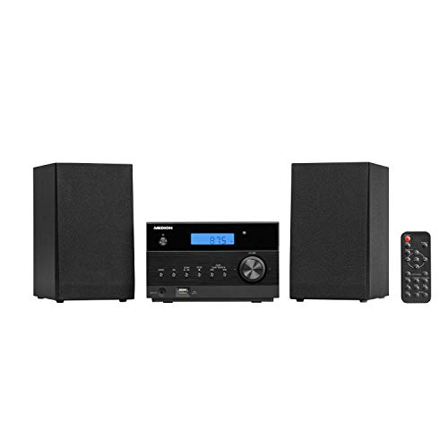 MEDION P64122 Kompaktanlage mit CD (Stereoanlage, Bluetooth, MP3, USB, UKW Radio, 2 x 50 Watt)