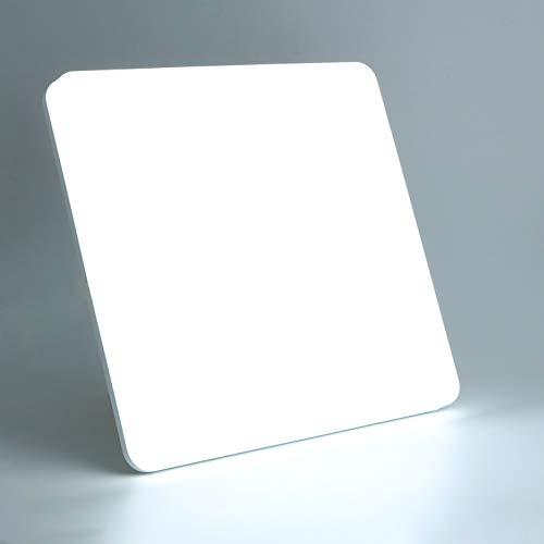Lamker 24W LED Deckenleuchte 6000K 2160LM Modern Quadrat Deckenlampe Kaltweiß Badezimmer Lampe Bürodeckenleuchte Panel Decken Beleuchtung Leuchte für Schlafzimmer Balkon Wohnzimmer Küche Bad