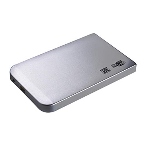 Ssd case, HDD Case 2.5 SATA to USB 3.0/2.0 Hard Drive Enclosure for SSD Disk HDD Box Type C Case Support UASP HD External Hard Disk (Color : Silver, Size : 2.0)