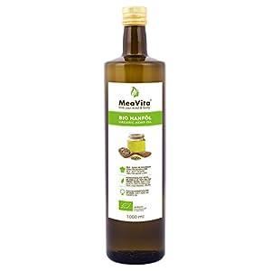 MeaVita Bio Hanföl, 100% rein & kaltgepresst, 1000l