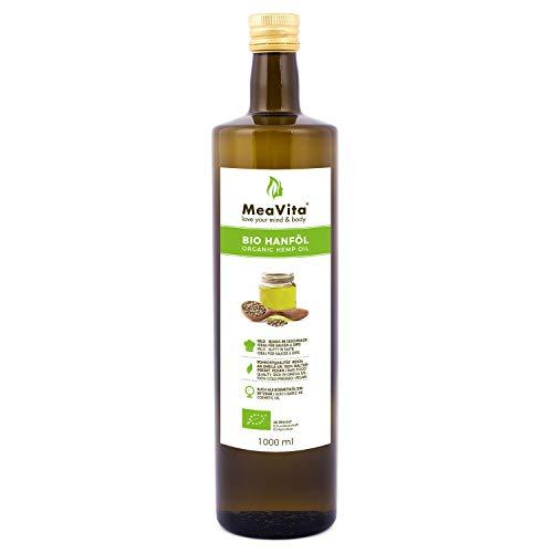 MeaVita Bio Hanföl, 100% rein & kaltgepresst, 1er Pack (1x 1000ml)