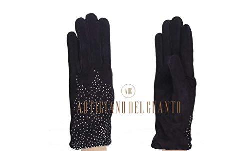 Handschuhe aus Lammfell (Wildleder) GKJ-0863 Sternenhimmel