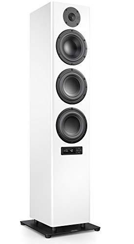 Nubert nuPro A-700 Standlautsprecher | Lautsprecher für Stereo & Musikgenuss | Heimkino & HiFi Qualität auf hohem Niveau | aktive Standbox mit 3 Wege Technik | Standbox Weiß | 1 Stück
