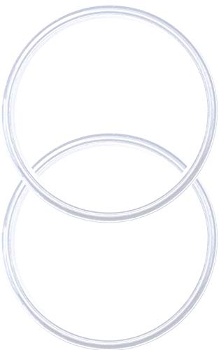 Pack of 2-20/10 oz Replacement Rubber Lid Ring, Gasket Seals, Lid for Insulated Stainless Steel Tumbler, Cups Vacuum Effect fit for Brands- Yeti, Ozark Trail, Beast, White by C&Berg Model 2019