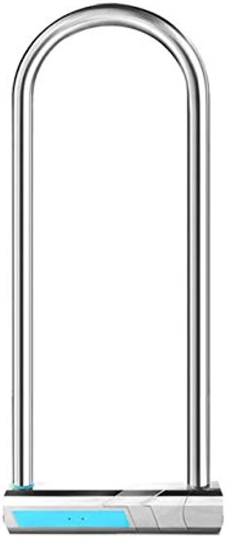 Intelligent Fingerprint Padlock Waterproof Alloy Steel Heavy Duty Bicycle Office Door U Shape Lock  (color  NO.1)