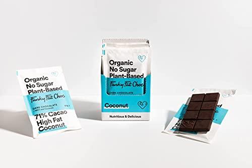 Cioccolato senza zucchero con 71% di cacao, cioccolato vegano addolcito con cocco, senza glutine, a basso contenuto di carboidrati, cioccolato amaro biologico, 10x50g barrette