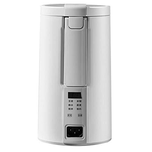 Máquina eléctrica de leche de soja de 220 V multicocción mini calentable exprimidor de leche de soja licuadora de pasta de arroz sin filtro con vaporizador blanco