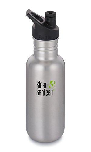 Klean Kanteen Unisex-Wasserflasche, klassisch, einwandig, gebürsteter Edelstahl, 510 ml