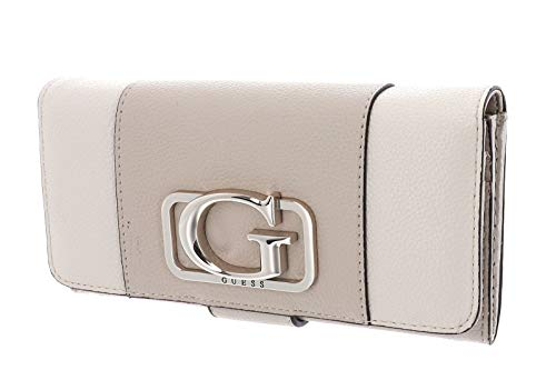 Guess Annarita SLG File Clutch Taupe Multi