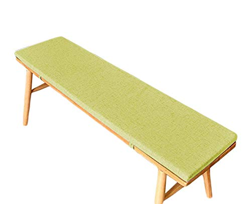 AISHANG Bench Cushion Pad Mat Garden Swing Pad Outdoor Long Chair Mat Thick Shoe Rack Cushion Indoor Dining Pad for 2 3 Seaters (Green,35x130x5cm)