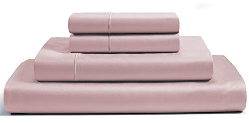 """CHATEAU HOME COLLECTION 100% Egyptian Cotton Sheets King Size, 800 Thread Count Sepia Rose 4 Piece Sheet Set Solid Sateen Weave 16"""" Deep Pocket (Fits Upto 18"""" Mattress) Long Staple Cotton Bedsheet Set"""