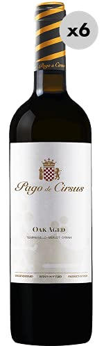 Pago de Cirsus Oak Aged, Vino Tinto, 6 Botellas, 75 cl