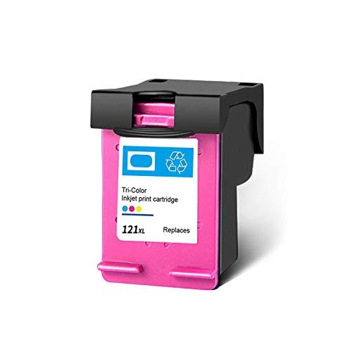 Cartucho de tinta 121XL, repuesto de alto rendimiento para impresoras HP Deskjet F4275 F4280 F4238 F4283 PhotoSmart C4780 ENVY 100 110, color negro y tricolor, 1 tricolor