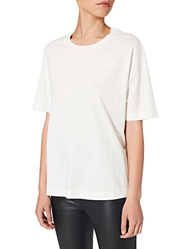 Scotch & Soda Maison Damen Bio-Baumwolle mit Logo T-Shirt, Off White 0001, S