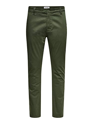 ONLY & SONS Herren ONSWILL Life REG Chino MA 7067 Hose, Deep Depths, 32/34
