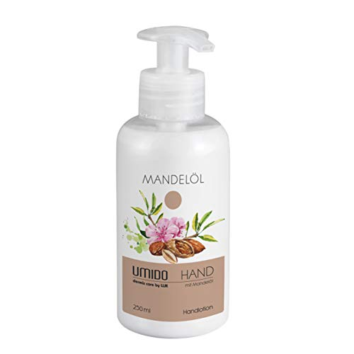 1x UMIDO Hand-Lotion Spender 250 ml Mandelöl | Handcreme | Pflegecreme | Creme | Lotion | Hautpflege