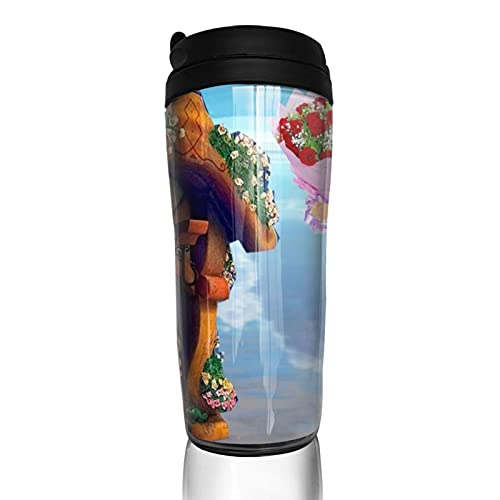 Anime Rapunzel - Taza de café reutilizable aislada para bebidas calientes frías y calientes té y cerveza