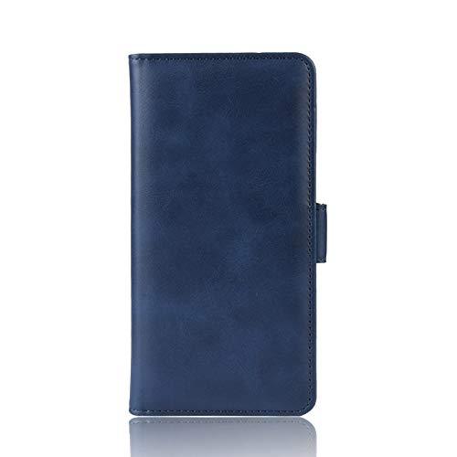 NEINEI Funda para Motorola Moto G30/G10,Libro Cuero Carcasa con [Ranuras y Tarjetas] [Función de Soporte],Diseño de Doble Hebilla Magnética,PU/TPU Flip Movil Cover Case,Azul