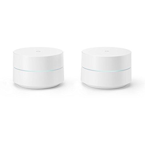 Google WiFi, Pack de 2, Routeur et point d'accès Blanc