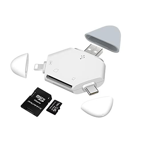 Hearkey 5 in 1 Lettore Schede SD/Micro SD con Magnetico, Adattatore SD per Phone/Type C/USB 3.0, Lettori Schede di Memoria per Macbook Pro/Air,iMac,Samsung,Huawei,Pad,Pod,PC,TV,DELL,Chromebook,Tablet