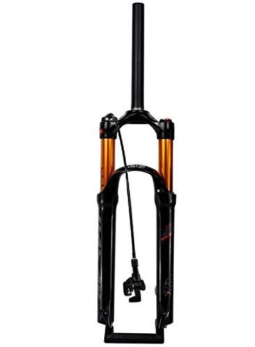 ZHTY Horquilla de suspensión Air Mountain Bike 26 27,5 29 Pulgadas Tubo Recto 1-1/8'QR 9 mm Recorrido 100 mm Manual/Bloqueo de Corona Horquillas MTB 1790g Bicicleta Horquilla de suspensión para bicic