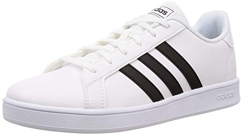 adidas Unisex-Kinder Grand Court K Tennisschuh, FTWR White/core Black/FTWR White, 38 2/3 EU