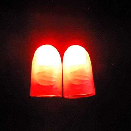WSNMING 2 Pairs Funny Novelty LED Light Flashing Fingers Kids Amazing Fantastic Glow Toys Children product image