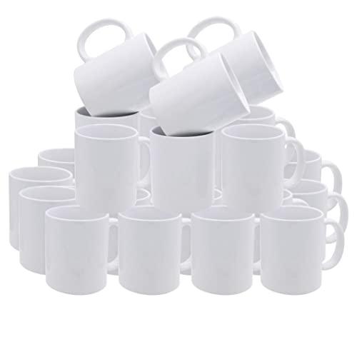 Sublimation Mug White 11 oz. Bulk Deals - Set of 36. Pure White All-purpose Ceramic Cup for Sublimation