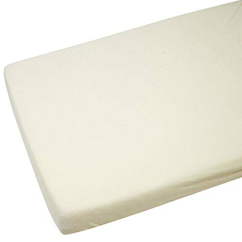 FYLO 2X Fitted Sheets Compatible with Chicco Next 2 Me 100% Cotton -Cream