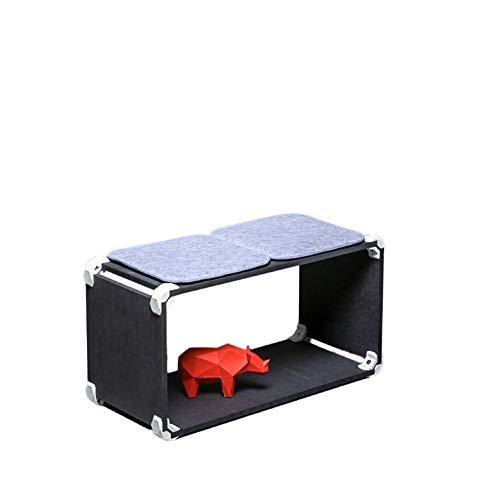 PlayWood Multifunktionskit, modulare Sitzbank aus schwarzem MDF, mit Verbindungsstück mit Schraube aus Edelstahl. Maße: 80x42x35cm (Weiss)