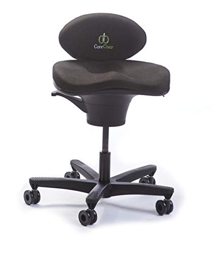 CoreChair Classic Premium Ergonomic Active-Sitting Office Chair | Patented Design to Promote Movement to Build Core Strength and Posture (for Those 5'6' and Taller)