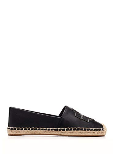Luxury Fashion | Tory Burch Dames 52035013 Zwart Leer Espadrilles | Seizoen Permanent