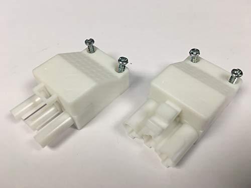 Steckverbindung (Stecker und Gegenstück/Anschluß) für steckbare Gebäudeinstallation, ST18/3S C1 ZEV WS RD, 3-polig, unmontiert, mit Zugentlastung und Verriegelung, Stecker: weiss, Zugentlastung: weiss