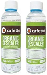 Cafetto Liquid Organic Descaler - Universal Descaling Solution for Keurig, Nespresso, Delonghi and All Single Use Coffee and Espresso Machines (2 Pack)