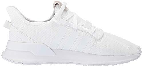 adidas Originals Men's U_Path Run Sneaker, White/White/White, 14